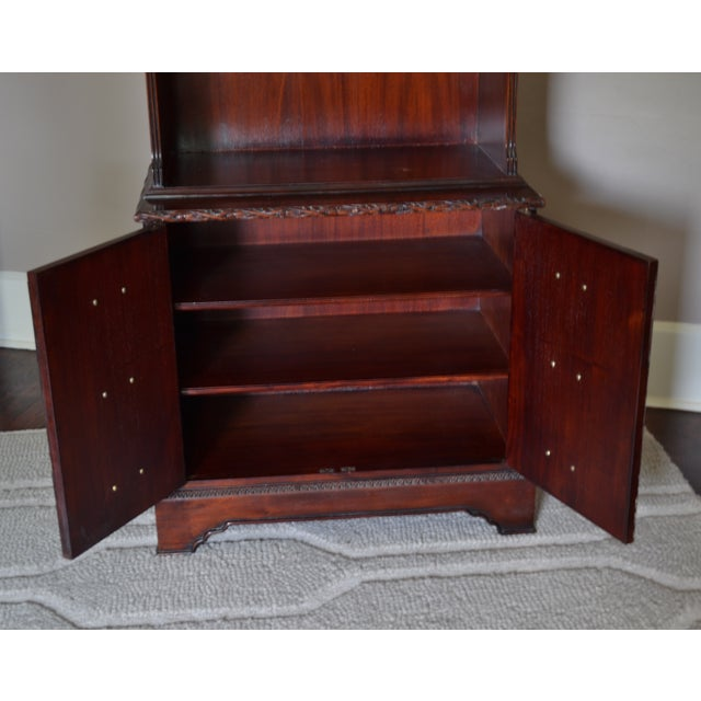 Mahogany Chinese Chippendale Bookcase - Image 6 of 9