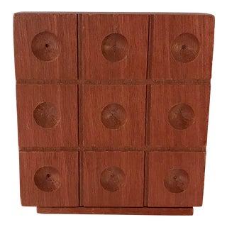 Vintage Wooden Tic Tac Toe Game For Sale