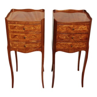 Late 19th Century Louis XVI Style Pair of Commode Tables For Sale