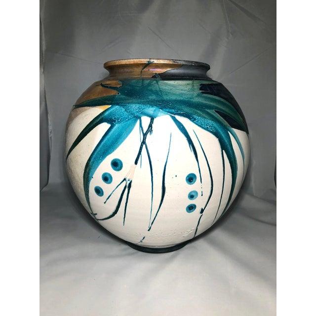 Raku Pottery Vessel, Signed For Sale In Philadelphia - Image 6 of 6