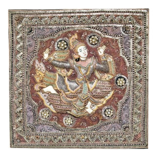 Vintage Burmese Kalaga Dancer Tapestry For Sale