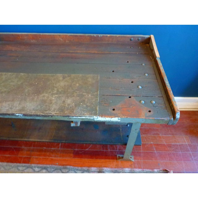 Industrial, Old Welders Workbench For Sale - Image 10 of 13