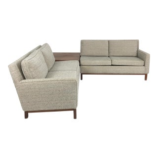 Henredon Sectional Sofa With Corner Storage Case For Sale