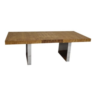 Roger Sprunger for Dunbar Chrome Dining Table For Sale