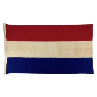 Vintage Netherlands Cotton Flag For Sale