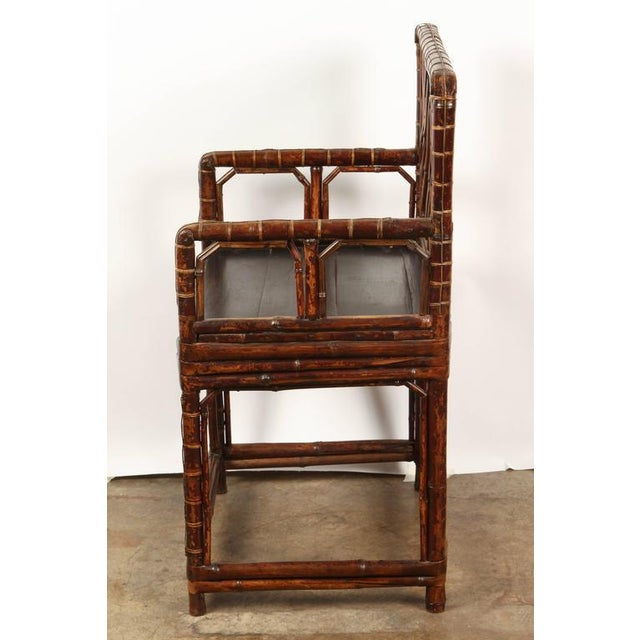 19th Century Chinese Bamboo Arm Chair For Sale In Los Angeles - Image 6 of 9