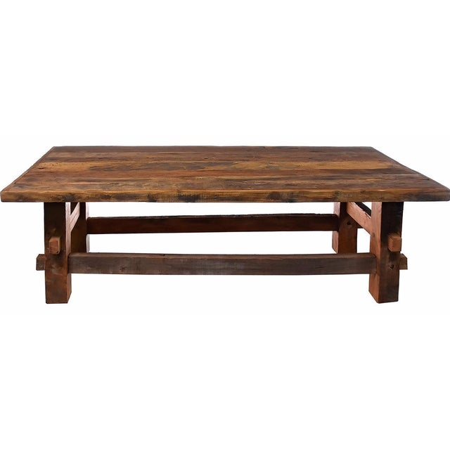 Reclaimed Wood Coffee Table - Image 1 of 3