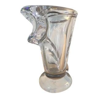 Vintage French Crystal Vase For Sale