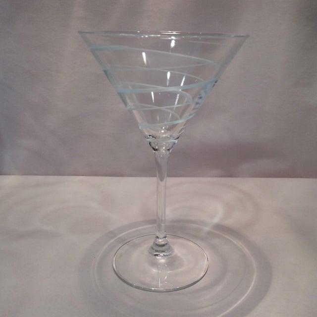 Vintage Mikasa Crystal Swirl Martini Glasses Set Of 4
