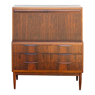 Danish Modern Rosewood Secretary Desk by Erling Torvits For Sale