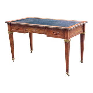 Directoire Style Writing Desk With Leather Top For Sale