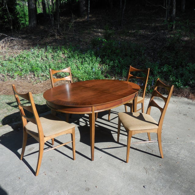 Mid-Century Lane Wood Dining Set - Image 2 of 9