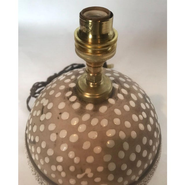 Mid-Century Studio Pottery Lamp with Decorative Surface For Sale - Image 5 of 8