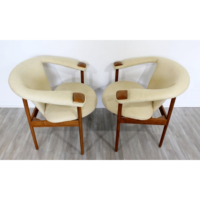 1970s Mid Century Modern Adrian Pearsall Wood Lounge Armchairs - a Pair For Sale - Image 5 of 9