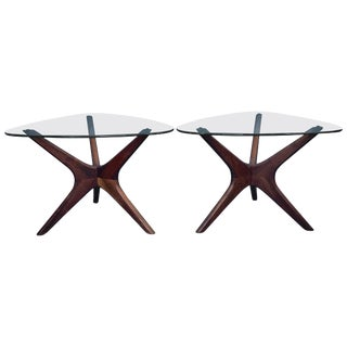 1960s Mid-Century Modern Adrian Pearsall Occasional Tables - a Pair For Sale