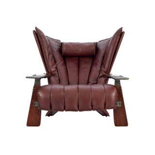 Pacific Green in Chestnut Brown Leather Verite Armchair Preview