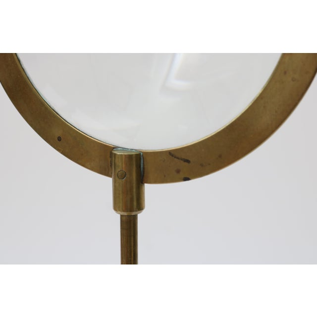 Brass Mid-Century Adjustable Brass Magnifier For Sale - Image 7 of 10