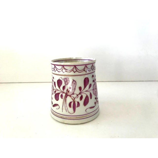 English Early 18th-Century Meissen Purple Indian Coffee Can For Sale - Image 3 of 10