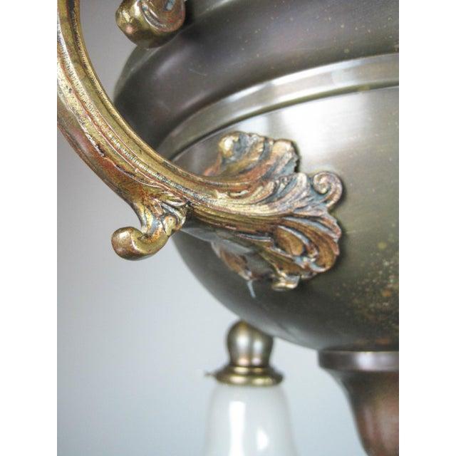 Original Arts & Crafts Bowl Light Fixture For Sale - Image 5 of 11