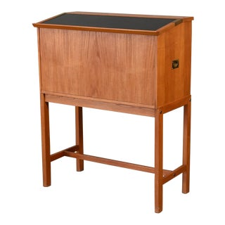 Drop Front Teak Bar Cabinet by Dyrlund