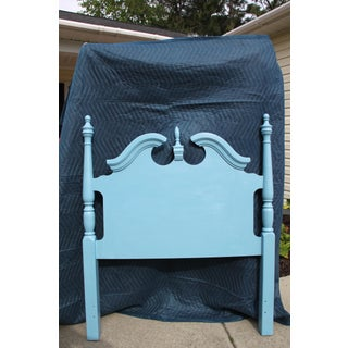 Hollywood Regency Beach Blue Twin Headboards - a Pair Will Paint Any Color for Additional Fee. Preview