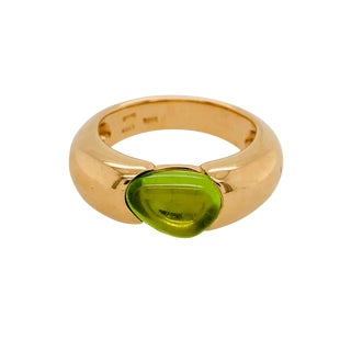 Pomellato Sassi Peridot 18k Rose Gold Ring Original Box For Sale