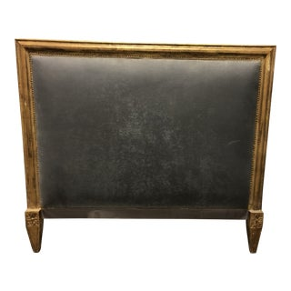 20th Century French Square Giltwood King Size Headboard For Sale