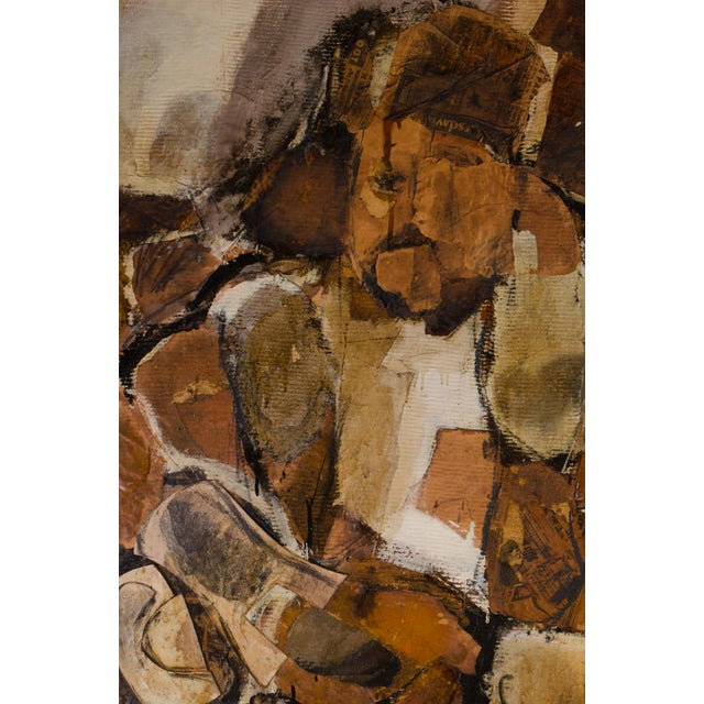 Mixed-Media Abstract Expressionist Diptych by Hilda O'Connell, 1965 For Sale - Image 7 of 8