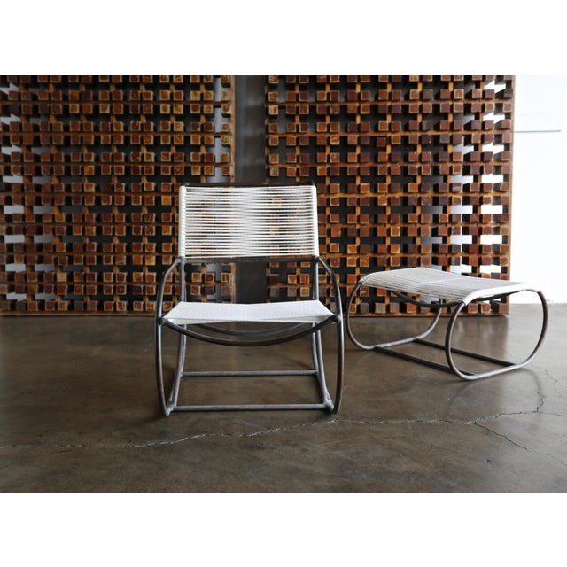 Bronze Outdoor Lounge Chair and Ottoman by Kipp Stewart for Terra of California For Sale - Image 12 of 13