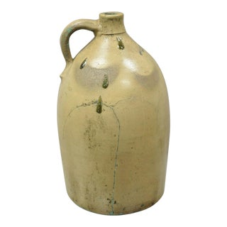Antique Bangor Stoneware Large Jug Bangor Maine For Sale