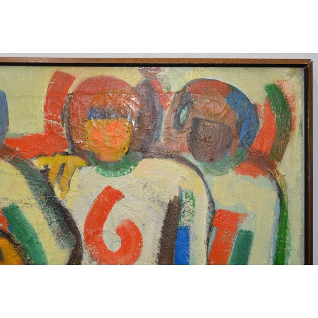 "Monumental Mid Modern ""Football"" Painting by J. Beall c.1960 For Sale - Image 5 of 10"