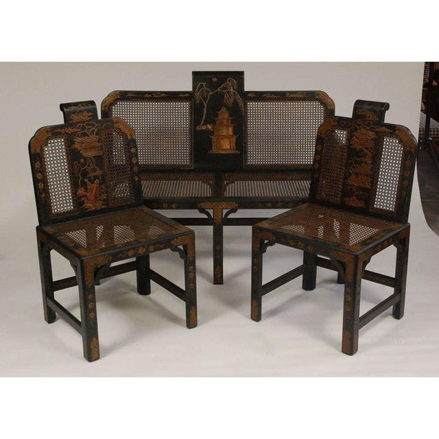Chinoiserie Seating Suite For Sale - Image 4 of 10