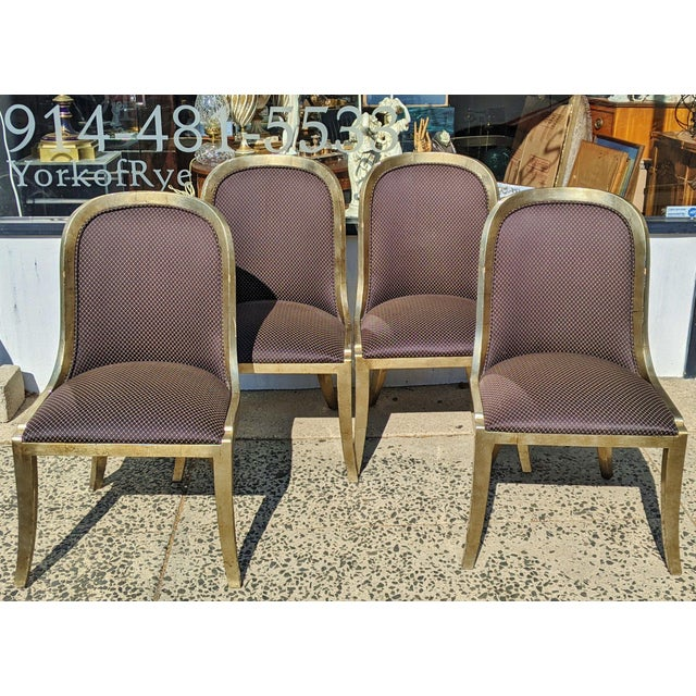 """Vintage 20th Century French """"Donghia"""" Style Gilt Chairs - Set of 4 For Sale - Image 10 of 10"""