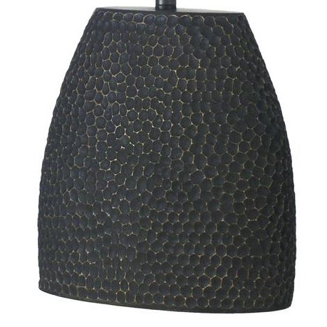 Jonathan Charles Dimpled Lamp in Dark Gray - Image 2 of 2