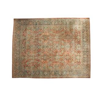 "Vintage Distressed Mahal Carpet - 10'8"" x 13'8"" For Sale"