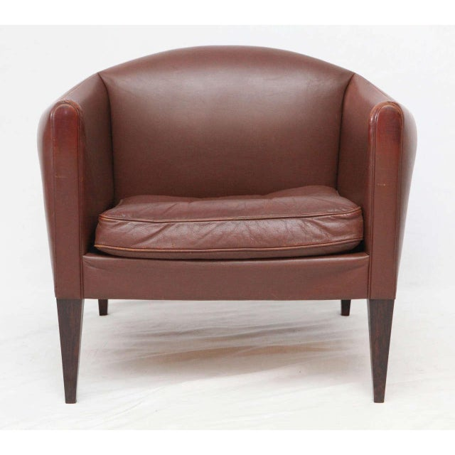 Pair of Illum Wikkelso Leather Lounge Chairs - Image 3 of 9