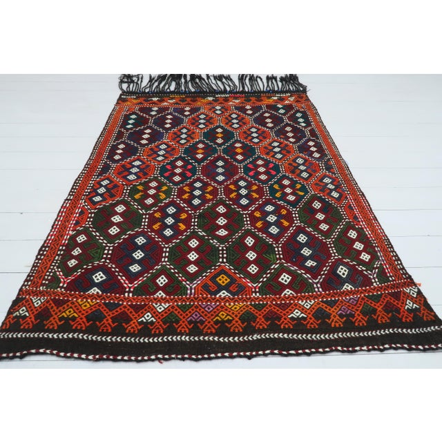 Vintage Turkish Kilim Rug For Sale - Image 13 of 13