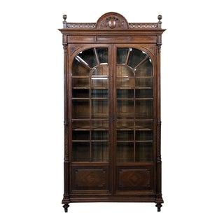 19th Century French Louis XVI Walnut Bookcase