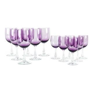 Vintage Crystal Wine Glassware Set 12 Pieces