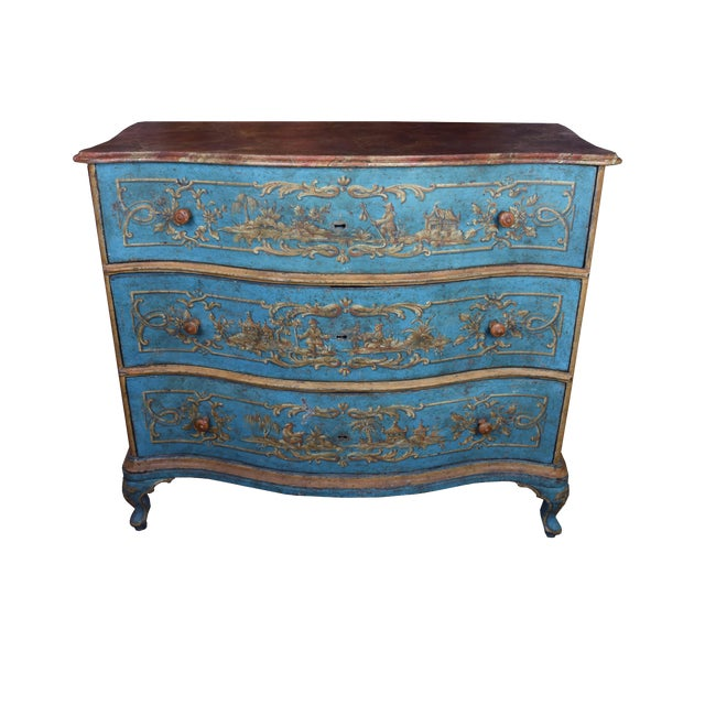 18th Century Italian Painted Chinoiserie Commode For Sale