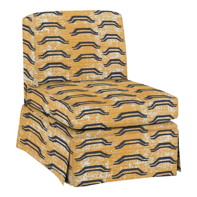 Casa Cosima Virginia Kraft Slipper Chair, Bagha For Sale - Image 4 of 4