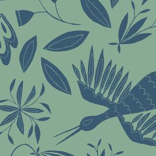 Julia Kipling Otomi Grand Wallpaper, Sample, in Queen Anne's Lace For Sale