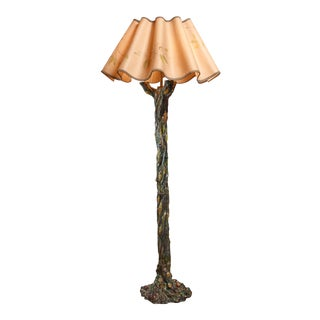 Ceramic Tree-Shaped Floor Lamp, Italy For Sale