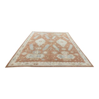 Contemporary Turkish Oushak Rug - 11′ × 13′ For Sale