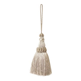 Gray Key Tassels With Looped Ruche For Sale