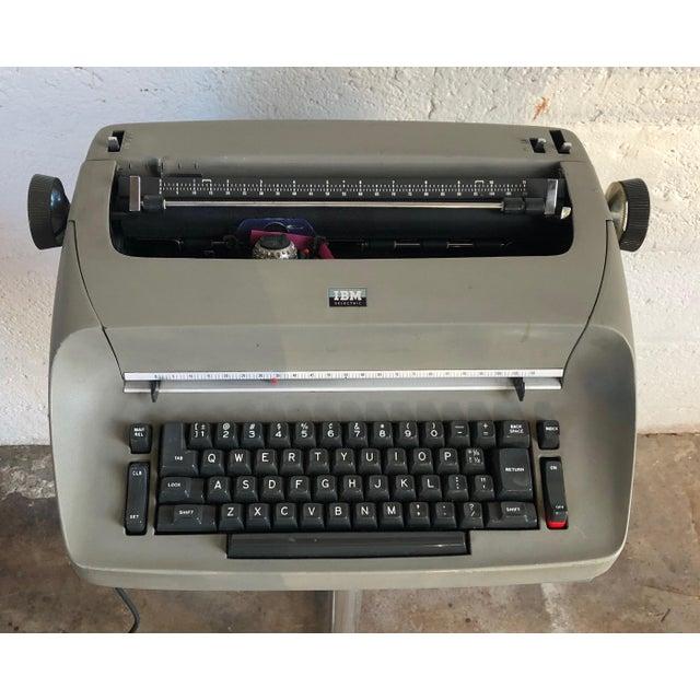 Metal Vintage Ibm Selectra I Electric Typewriter For Sale - Image 7 of 7
