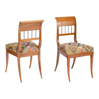 Biedermeier Fruitwood Side Chairs, circa 1840 - a Pair For Sale