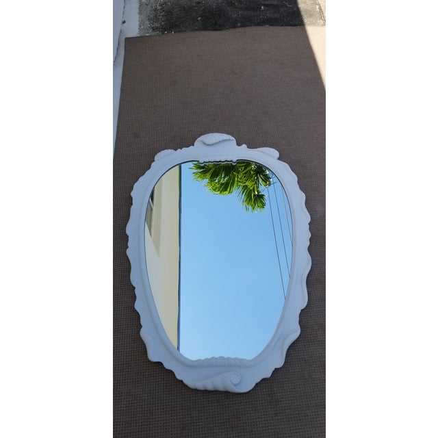 1950s Vintage Italian Dorothy Draper Style Decorative Wall Mirror For Sale - Image 10 of 10