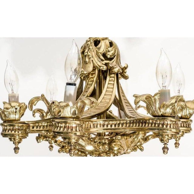 Bronze English Gothic Revival Bronze Chandelier For Sale - Image 8 of 13