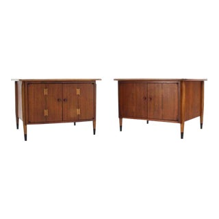 Vintage Mid Century Walnut End Tables- a Pair For Sale